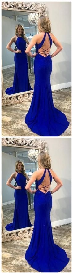 Sexy Open Back Mermaid Evening Dress, Royal Blue Long Prom Dress by olesaweddingdresses, $134.68 USD Classy Prom Dresses, Royal Blue Prom Dresses, Beautiful Prom Dresses, Prom Party Dresses, Sexy Dresses, Fashion Dresses, Prom Tips, Mermaid Evening Dresses, Evening Party