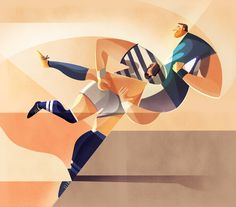 Sports illustrations by Charlie Davis. illustration Sports Illustrations by Charlie Davis Illustration Main, Illustration Styles, Vector Illustrations, Behance, Estilo Retro, Sport Photography, Sports Art, Photoshop, Sport Fashion