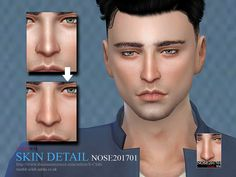 The Sims Resource: Skin Detail Nose201701 by S-club • Sims 4 Downloads