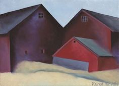 Georgia O'Keeffe - Ends of Barns, 1922
