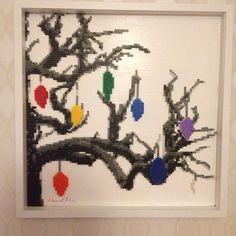 Christmas perler bead Art by thebeadspriteking