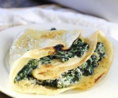 Rezept: Pfannkuchen mit Spinat-Ricotta-Füllung