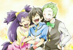 Ash, Iris and Cilan