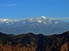 #NandaDevi and Himalayas from Dhanaulti