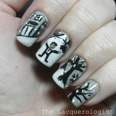 The Lacquerologist: Holiday Nail Art: It's A Wonderful Life!