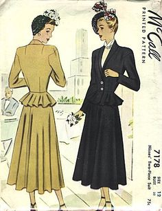 Best Vintage Patterns - Vintage Patterns 1940s  I love this. Thinking about making it