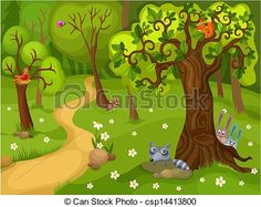 Vector Clipart Of Forest Background