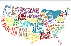 Pretty much the USA in a nutshell...I like Florida the best!