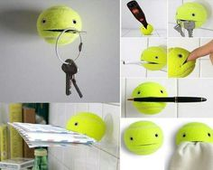 DIY recycled craft: Tennis Ball