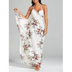 trendsgal.com - Trendsgal Chiffon Floral Convertible Sarong Wrap Cover Up Dress - AdoreWe.com