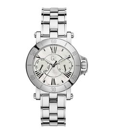 GUESS Gc Femme Silver and Rose Gold Timepiece * See this great product. Big Watches, Luxury Watches, Ladies Watches, Seiko, Colorful Bracelets, Beautiful Watches, Stainless Steel Bracelet, Michael Kors Watch, Gold Watch