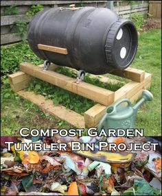 Compost Garden Tumbler Bin Project The Homestead Survival - Homesteading - DIY Project