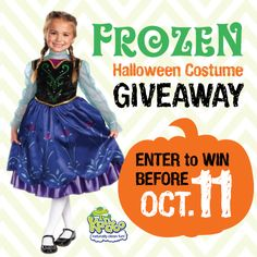 Looking for another way to win tonight? If' you're on Instagram, be sure to enter the Frozen Halloween contest from our friends at Kandoo. They're giving away a Frozen Anna costume, Frozen Elsa costume, Frozen Olaf costume AND a $100 Amazon gift card. Click here to enter. Giveaway ends October 11. Good luck!