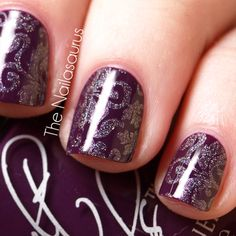 The Nailasaurus | UK Nail Art Blog: Snippet: Pretty in Purple