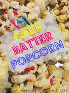 Cake Batter Popcorn Recipe Baby Sprinkle Shower Ideas