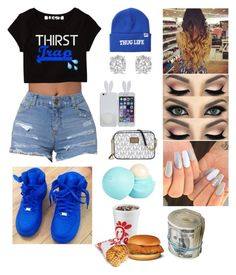 """""""Blue."""" by queen-cc ❤ liked on Polyvore featuring Married to the Mob, Effy Jewelry, River Island and Michael Kors"""