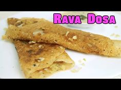 Crispy rava dosa made in a simple and quick style. Tomato chutney and coconut chutney go along with this well as a side dish. Pizza Recipes, Bread Recipes, Rava Dosa, Bread Dishes, Tomato Chutney, Coconut Chutney, Types Of Bread, Side Dishes, Good Food