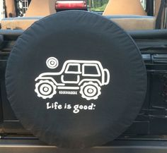 Life is Good Tire Cover Native Offroad Jeep Jeep Wheel Covers, Jeep Covers, Jeep Tire Cover, Jeep Wrangler Accessories, Jeep Accessories, 4x4, Jeep Wheels, Jeep Wrangler Tj, Jeep Jeep