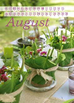 Kalendermotiv August 2014