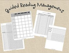 Guided Reading Charts
