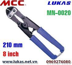 Kìm cộng lực cắt sắt mũi cong 210mm, MN-0020.  Chiều dài: 210mm - 8 inch. Trọng lượng: 270g. Khả năng cắt: 3.5 mm sắt có độ cứng 80 HRB.