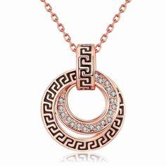 El Envío Libre Vendedor Caliente de Cristal Austriaco collar de las mujeres Hueco brújula grande collar de La Joyería de Estilo Europeo