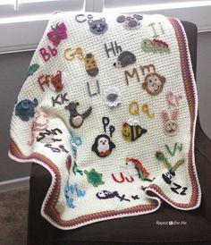 Animal Alphabet Afghan Baby Blanket FREE Crochet pattern