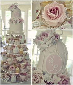 ~~ 'Afternoon Tea ~ wedding cake   by Cotton and Crumbs