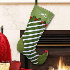 Striped Jester Christmas Stocking