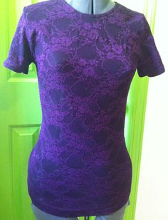 T-shirt Transformation - lace over tee