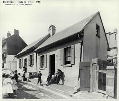 Clyde Street, Millers Point Numbers 22 and 24 Clyde Street, Sydney (NSW) Dated: The Rocks Sydney, Sydney City, Historical Images, Dublin, Old Photos, The Past, Street View, Australia, History