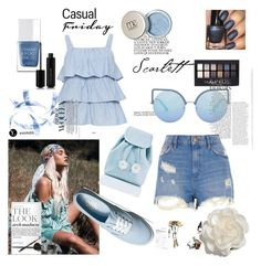 """""""Blue :)"""" by selma-masic1 ❤ liked on Polyvore featuring River Island, The Hand & Foot Spa, Marc Jacobs, Maybelline, Vans, Sugarbaby, Cara and Matthew Williamson"""