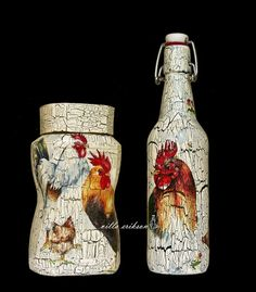 Vintage Roosters & Chickens Set by VillaErikson on Etsy, $37.00