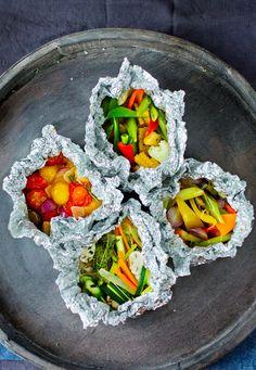 Velg dine egne favoritter å grille! Squash, Grilling, Dining, Ethnic Recipes, Food, Eggplant, Pineapple, Red Peppers, Pumpkins