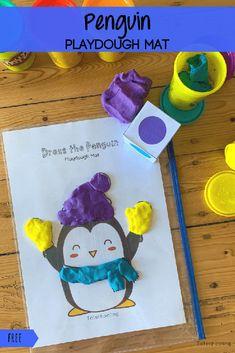Playdough Activities, Toddler Learning Activities, Winter Activities, Preschool Curriculum, Preschool Kindergarten, Fish Outline, Tot School, Play Dough, Motor Skills