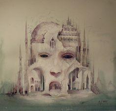 Original Watercolour Painting Alzheimer s Dominic Murphy ART signed Unique Rare