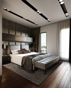 55 Cozy Master Bedroom Ideas 2020 (For Your Inspiration) - Dovenda House Ceiling Design, Ceiling Design Living Room, Bedroom False Ceiling Design, Master Bedroom Interior, Modern Master Bedroom, Modern Bedroom Design, Master Bedroom Design, Home Interior, Living Room Designs
