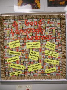 Andrea, Secondary Spanish | A Good Language Learner... Bulletin Board
