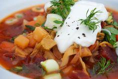 Recept: Boršč (hustá polievka) | Nebíčko v papuľke Hunger Strike, Salsa, Cooking Recipes, Facebook, Ethnic Recipes, Food, Baking Recipes, Cooker Recipes, Restaurant Salsa