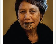 Beautiful Maori lady with ta moko