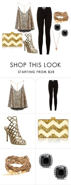"""Untitled #11"" by katdancer ❤ liked on Polyvore featuring Office, Edie Parker and Pamela Love"