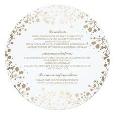 Baby's Breath White Wedding Details - Information