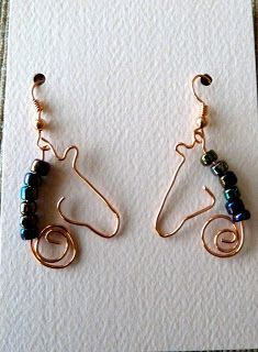 Make it easy crafts: Copper Wire Horse Earrings