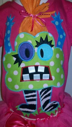 CLover Monster Machine applique Design by ohhsooxford on Etsy, $4.00