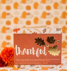 thankful | Create Gold Fall Leaves with Deco Foil Foam Adhesive Sheets