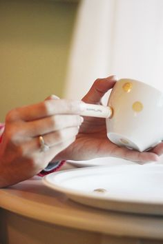 Michaela Noelle Designs: DIY Polka Dot Tea Cup