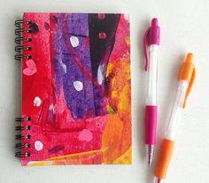 Cuaderno con espiral pintado a mano pieza única por kinmcuadernos, €11.00