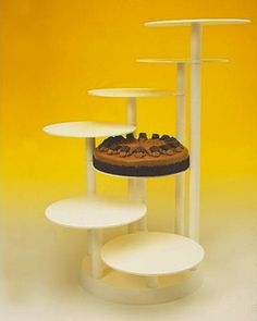 Tiered Cake Display...could use this for an appetizer display instead!