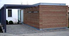 Carport | Architektenstudio Melzer Carport Sheds, Carport Garage, Cantilever Carport, Carport With Storage, Car Canopy, Carport Designs, Garage Studio, Mid Century House, Shed Plans