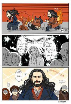 the hobbit Thorin kadeart Desolation of Smaug I laugh so hard at this scene Legolas, The Hobbit Thorin, O Hobbit, Thranduil, Gandalf, Sherlock, Midle Earth, Bagginshield, The Hobbit Movies